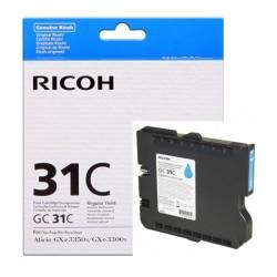 Cartouche cyan Ricoh pour Aficio GXe 3300N / 3350N (GC-31C)