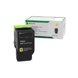 Toner jaune Lexmark pour CS421adn - CX421dn - CS521dn .... (return program)