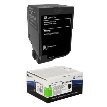 Cartouche de toner Haute capacité Noir LEXMARK pour CS720, CS725 (20k)