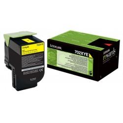Toner jaune Très haute capacité Lexmark pour CS510 (702XYE)