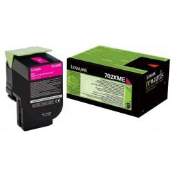 Toner Magenta Très haute capacité Lexmark pour CS510 (702XME)