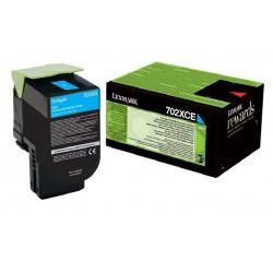Toner Cyan Très haute capacité Lexmark pour CS510 (702XCE)
