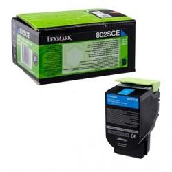 Toner cyan Lexmark pour CX310n / CX410e ... haute capacité (802SCE)