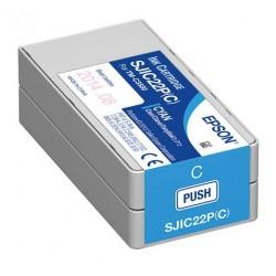 Cartouche Cyan pour Epson TM-C3500 - ColorWorks C3500 (SJIC22P)