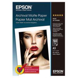 50 feuilles Papier Photo EPSON A3 - 189 gr - Finition Matte