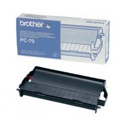 Ruban de transfert thermique Brother PC70 Noir
