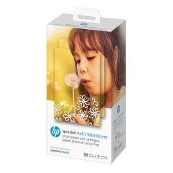 2 Cartouches et papier photo HP Sprocket Studio - 80 feuilles/10 x 15 cm (4 x 6 pouces)