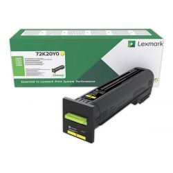 Cartouche de toner Jaune LEXMARK pour CS820de, CX820de...(Return Program)