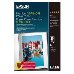 Papier Epson A4 semi glacé (20 feuilles) 251gr/m2 pour jet d'encre