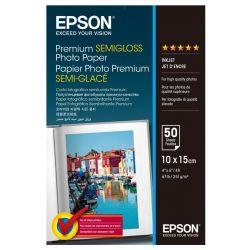 Papier Epson 10x15cm semi glacé (50 feuilles) 251gr/m2 pour jet d'encre