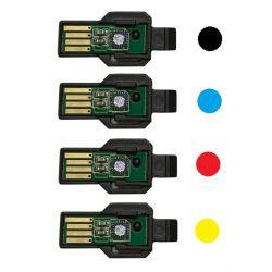 Pack 4 puces pour Unités images pour XEROX Workcentre 6605 ...