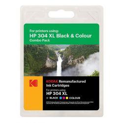 Pack de 2 Cartouches génériques Jet d'encre N°304XL Noir (15ml) + Couleur (18ml) pour HP Grande Capacité