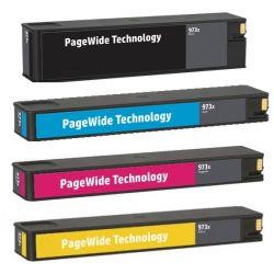 Pack 4 Cartouche jet d'encre Haute Capacité Générique pour HP PageWide : Pro 452dw / 477dw ....(N°973X)