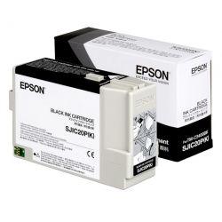 Cartouche d'encre Noir EPSON (78,7 ml) pour Imprimante TM-C3400 (SJIC20PK)