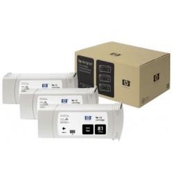 Multipack cartouches teintées Noires HP pour Designjet 5000 (N°81)