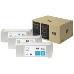 Multipack cartouches teintées Cyan HP pour Designjet 5000 (N°81)