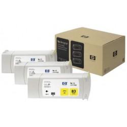 Multipack de cartouche d'encre UV jaune HP pour Designjet 5000 (N°83)