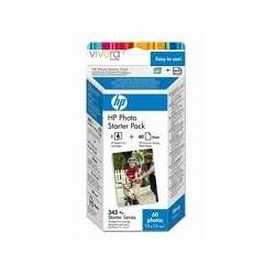 Kit fêtes : HP No. 343 avec l'encre vivera + 10 feuilles + 10 cartes/enveloppes
