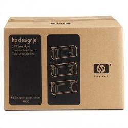 Pack de 3 cartouches cyan grande capacité HP pour Designjet 4000 (N°90)