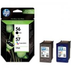 Pack cartouches encre HP 1 Noire N°56 + 1 couleur N°57