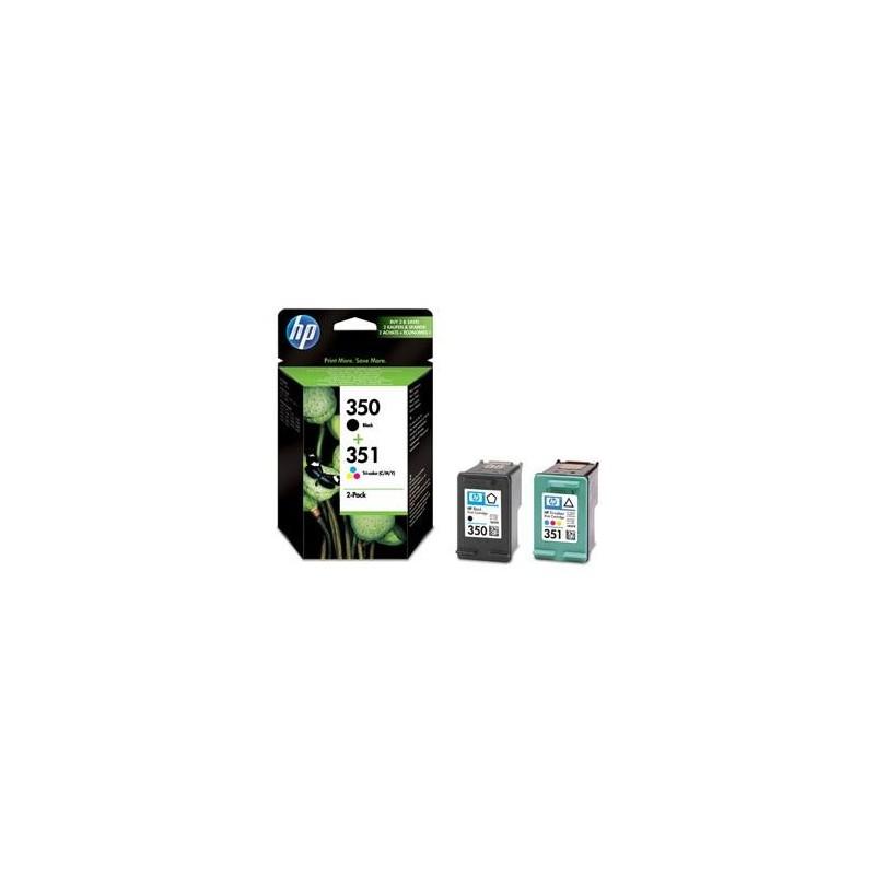 Pack cartouche encre HP 1 Noire N°350 + 1 couleur N°351