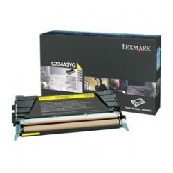 Toner jaune Lexmark pour C734 / C736 / X734 / X736 / X738