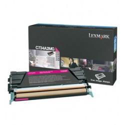 Toner magenta Lexmark pour C734 / C736 / X734 / X736 / X738