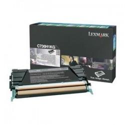 Toner noir longue durée Lexmark pour C736 / X736 / X738