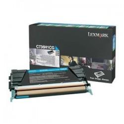 Toner cyan longue durée Lexmark pour C736 / X736 / X738