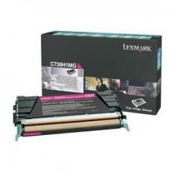 Toner magenta longue durée Lexmark pour C736 / X736 / X738