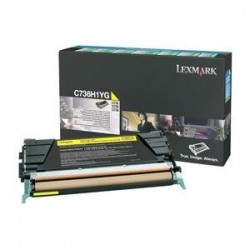 Toner jaune longue durée Lexmark pour C736 / X736 / X738