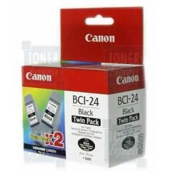 Cartouche d'encre Noire CANON (BCI24Bk) DOUBLE PACK ( 6881A009 )