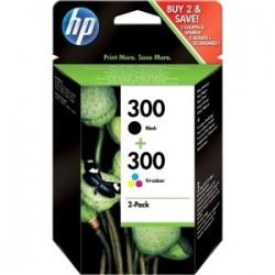 Pack de 2 Cartouches : 1 noire + 1 couleur, HP N°300 pour deskjet D2560 (N°300)