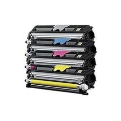 Pack de 4 toners génériques haute capacité pour Konica Minolta 1600w...