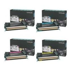 Pack de 4 toners Lexmark pour C734 / C736 / X734 / X736 / X738