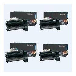 Pack de 4 toners longue durée Lexmark pour C780 / C782 ....
