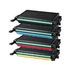 Pack de 4 toners Samsung pour CLP-610ND / 660D / 660ND