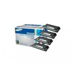 Pack de 4 toners hautes capacités Samsung pour CLP-610ND / 660D / 660ND