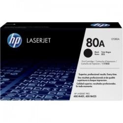 Toner noir HP pour LaserJet Pro 400 ... (80A)