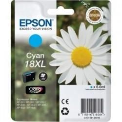 Cartouche cyan haute capacité EPSON pour Expression Home XP-205 / XP-30 ... (N°18XL)