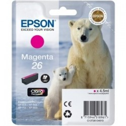 Cartouche magenta EPSON pour Expression Home XP-600... (N°26) (ours)