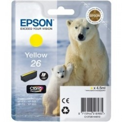 Cartouche jaune EPSON pour Expression Home XP-600... (N°26) (ours)