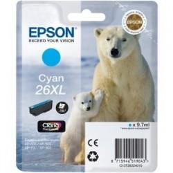Cartouche cyan haute capacité EPSON pour Expression Home XP-600... (N°26XL) (ours)